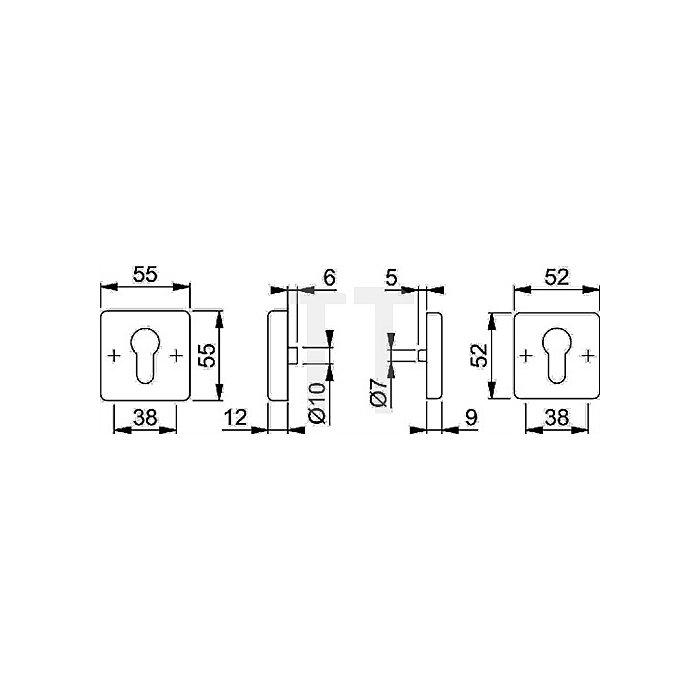 Hoppe Schutzrosette E52NSA/52S PZ VA F69 TS 67-72mm