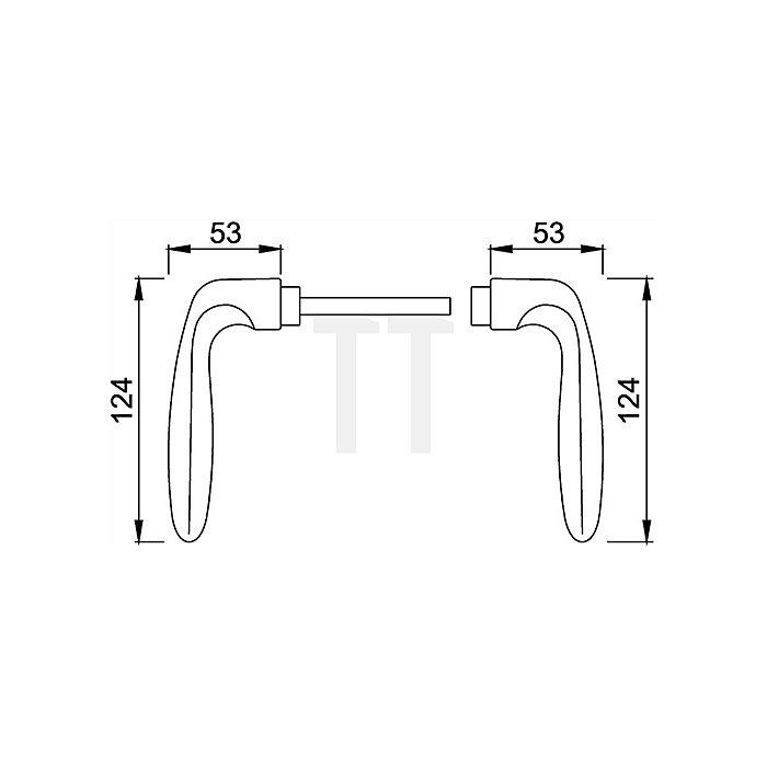 Hoppe Türdrücker-Paar Verona 1510 VK 8mm Alu F2 SST