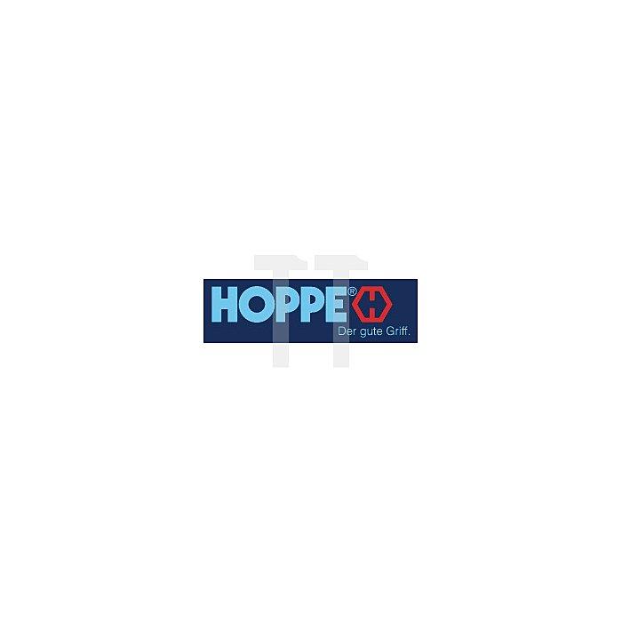 Hoppe Türdrückerpaar Amsterdam E1400Z/848 4KT 8mm F69 VA matt m.quadrat.Drückerrosette