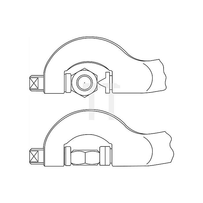 Hydraulischer Mutternsprenger, für Muttern 22-36 / 7/8 - 1 7/16mm Schlüsselweite