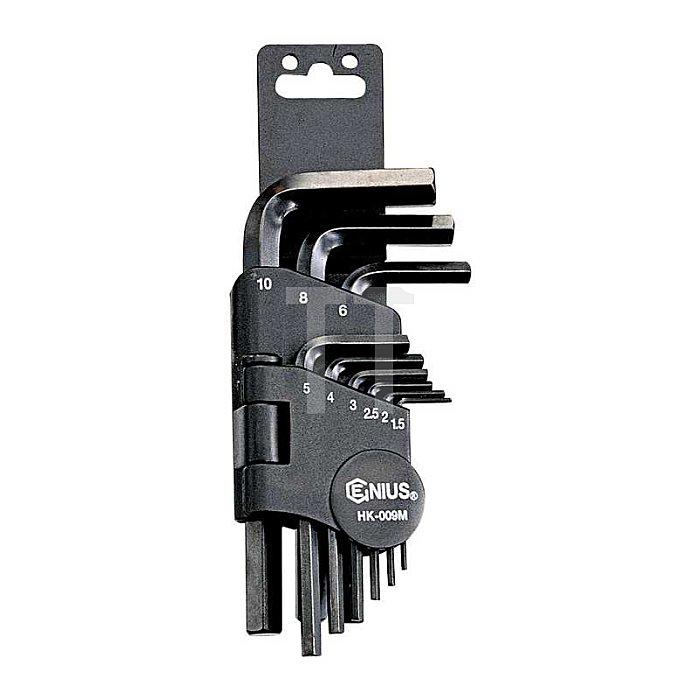 Inbuss Stiftschlüsselsatz kurz 1,5 - 10mm metrisch 9tlg.