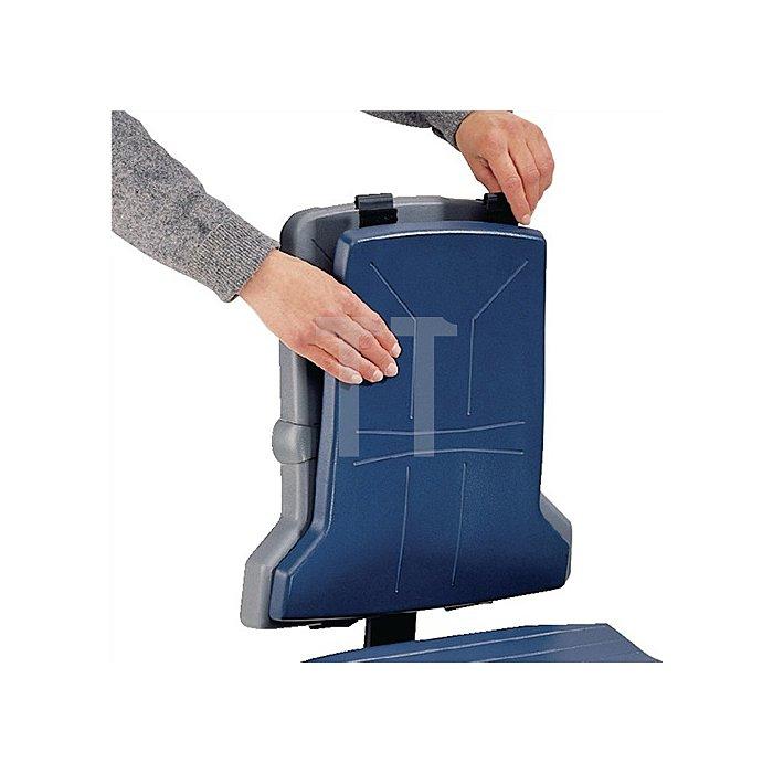 Integralschaumpolster Sintec blau f.Arbeitsdrehstuhl f.Sitz u.Rückenlehne BIMOS