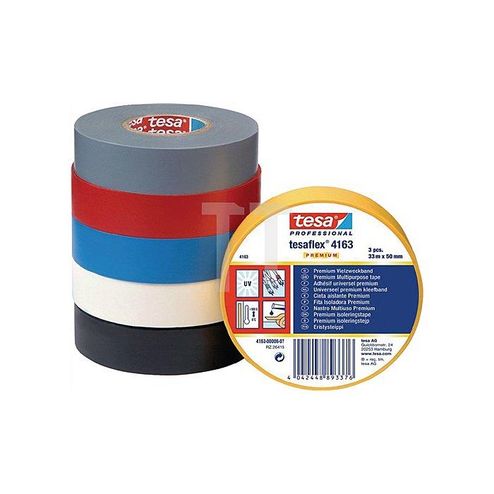 Isolierband 4163 Länge 33m Breite 19mm schwarz Weich-PVC-Folie tesa