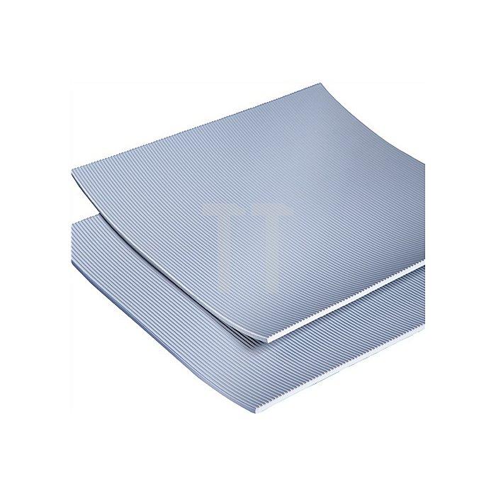 Isoliermatte Gummi 4,5mm längs gerieft L.10000xB.1000mm grau 10m/RL