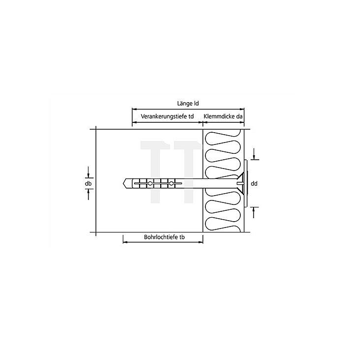 Isolierplattenduebel IPD 8 x 170 apolo MEA