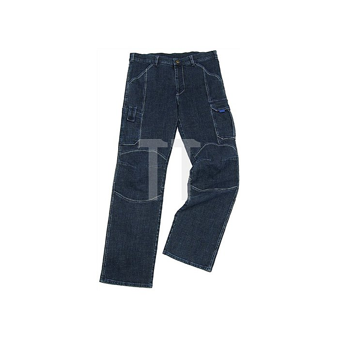 Jeans-Arbeitshose Gr.58 denim-blue 98%CO/2% Elastan PIONIER m.Beintaschen