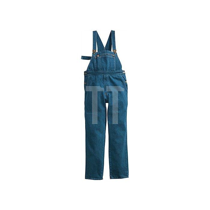 Jeans-Latzhose Gr.48 stone-washed 100%CO 14,5 oz PIONIER m.Stoffträger