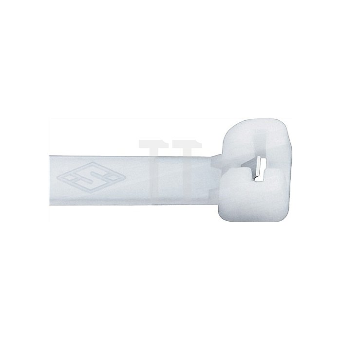 Kabelbinder L.186mm B.4,5mm Bündel-D.51mm Farbe schw. m.Stahlnase PA SEPI SELCO