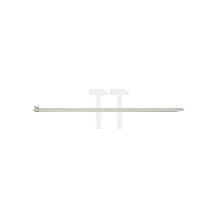 Kabelbinder L.360mm B.7,5mm Bündel-D.101mm Farbe natur m.Stahlnase PA SEPI SELC