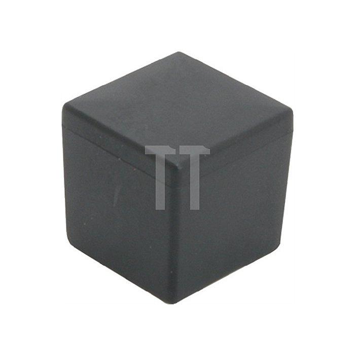 Kappe für Quadratrohr Länge 20mm Breite 20mm PE schwarz quadratisch