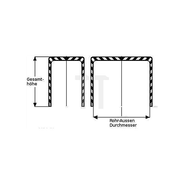 Kappe für Rechteckrohr Länge 40mm Breite 20mm PE schwarz rechteckig