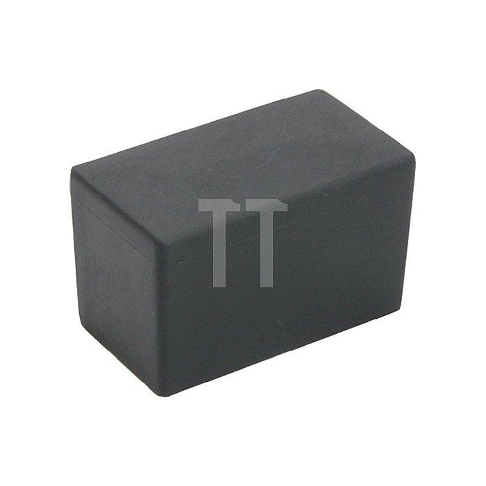 Kappe für Rechteckrohr Länge 40mm Breite 25mm PE schwarz rechteckig