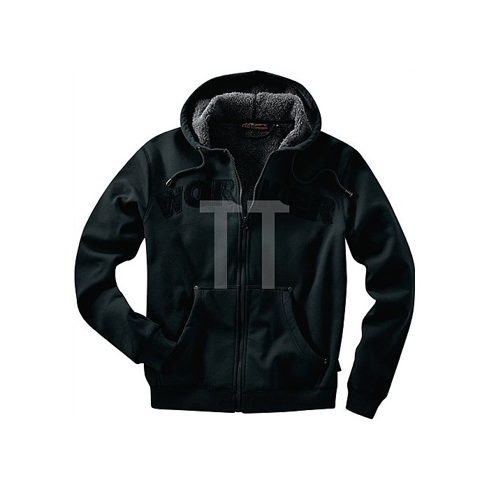 Kapuzenjacke Workwear Gr.XL schwarz 100 % Baumwolle