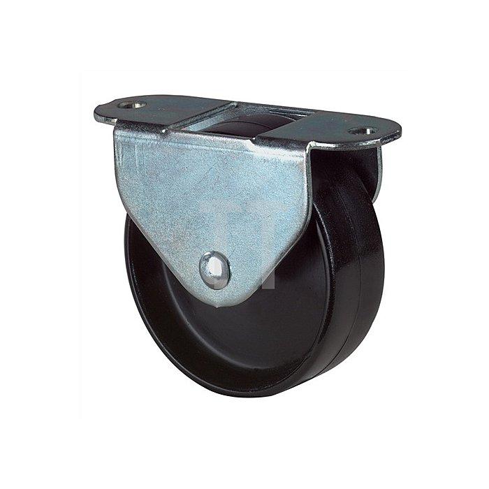 Kastenrolle Durchmesser 30mm Bauhöhe 33mm Kunststoffrad schwarz für weiche Böden