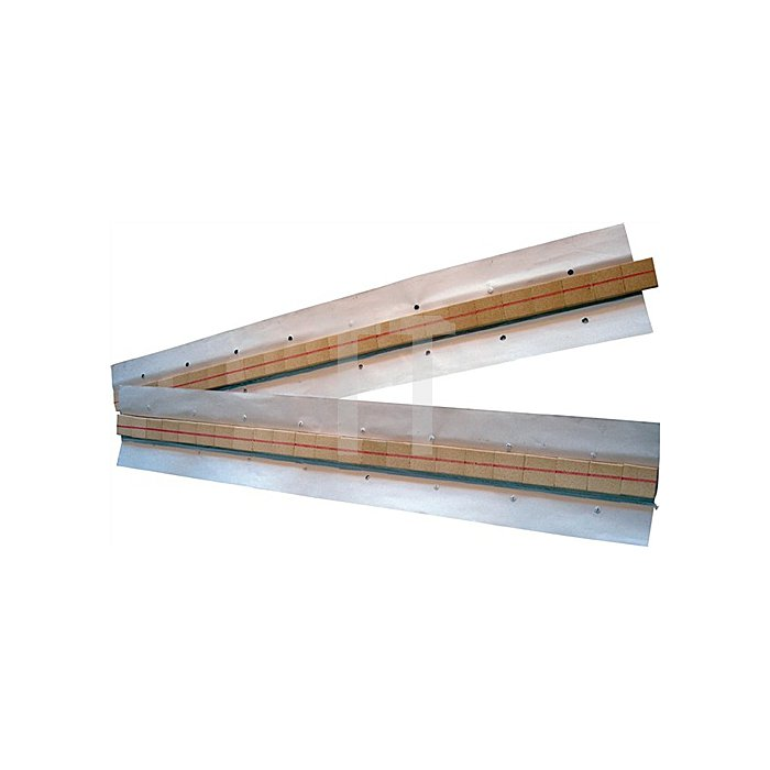 Keramische Badsicherung Halbrundnut, L.600mm 25,4x7,9x1,6mm auf Alu-Klebeband