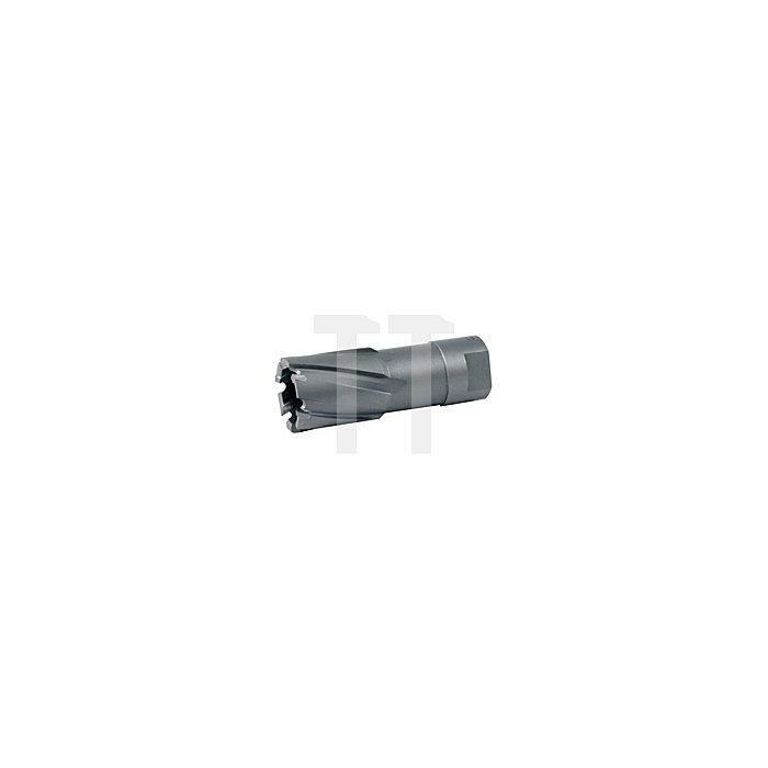Kernbohrer mit Hartmetallschneiden und Gewindeaufnahme. Ø 25 mm