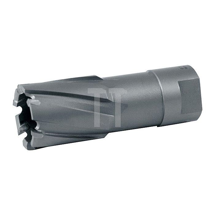 Kernbohrer mit Hartmetallschneiden und Gewindeaufnahme. Ø 27 mm