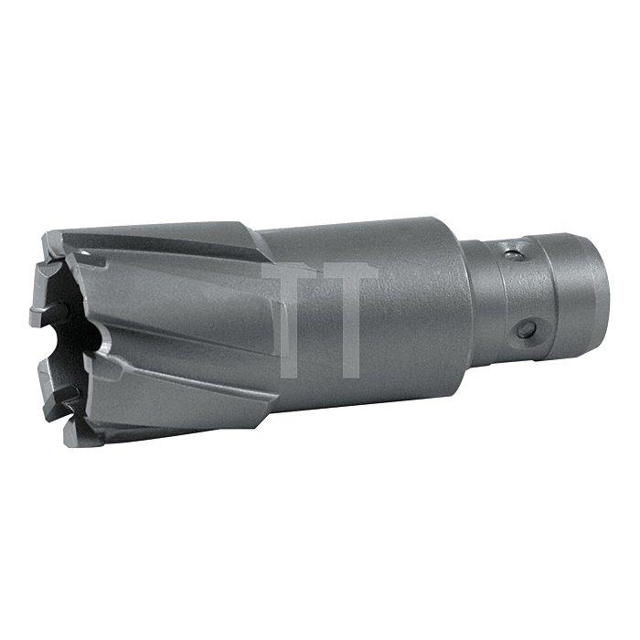 Kernbohrer mit Hartmetallschneiden und Quick IN-Schaft. Ø 21 mm