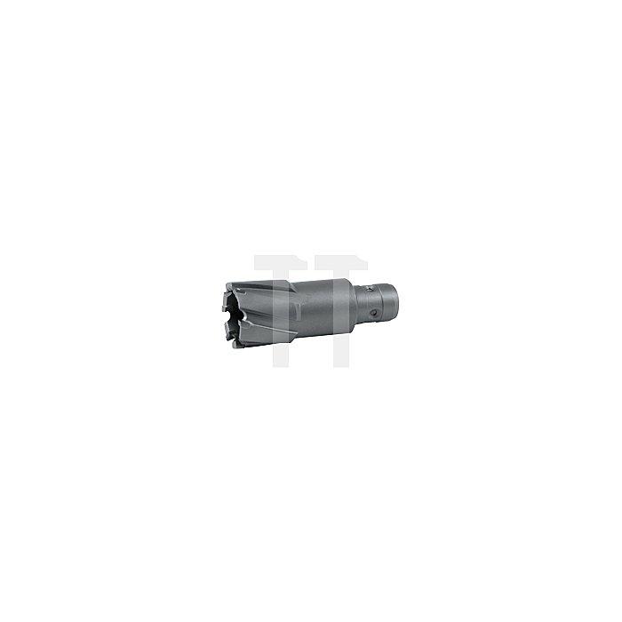 Kernbohrer mit Hartmetallschneiden und Quick IN-Schaft. Ø 55 mm