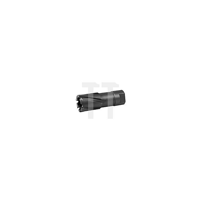 Kernbohrer Tecrona beschichtet mit Hartmetallschneiden und Gewindeaufnahme. Ø 23 mm