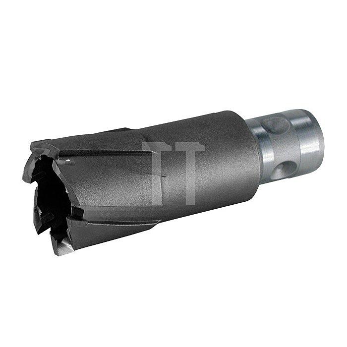 Kernbohrer Tecrona beschichtet mit Hartmetallschneiden und Quick IN-Schaft. Ø 55 mm