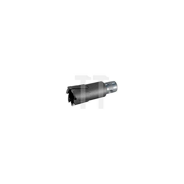 Kernbohrer Tecrona beschichtet mit Hartmetallschneiden und Quick IN-Schaft. Ø 63 mm