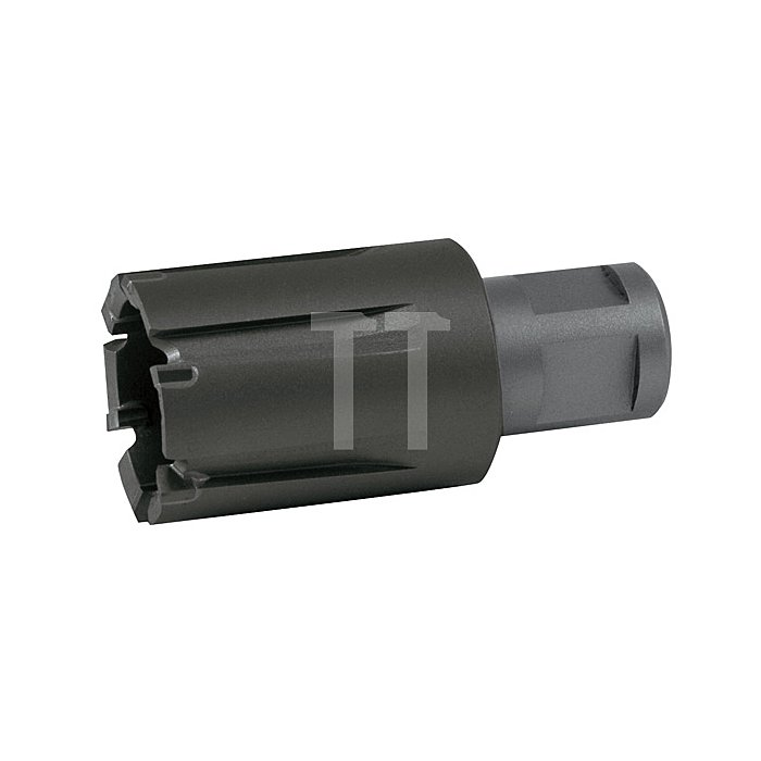 """Kernbohrer Tecrona beschichtet mit Hartmetallschneiden und Weldonschaft (3/4"""") für Eisenbahnschienen. Ø 20 mm"""