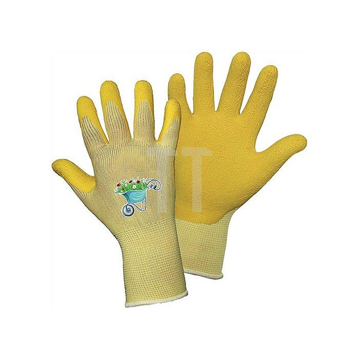 Kinderhandschuh Tom MIDI Gr.6, Nylon mit Latexbeschichtung, gelb auf Karte