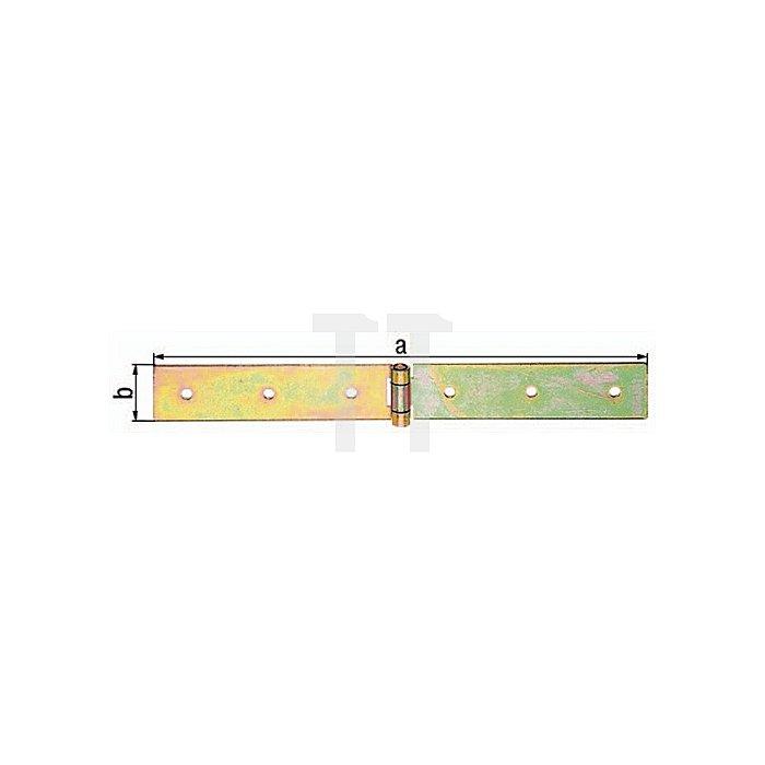 Kistenband 500x35mm Stahl roh galv. gelb verz. GAH