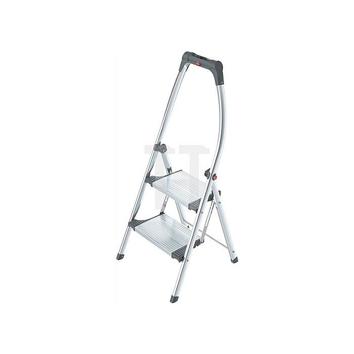 Klapptritt 2 Stufen Arbeitshöhe ca.2250mm Aluminum/Stahlblech Trgf.150kg