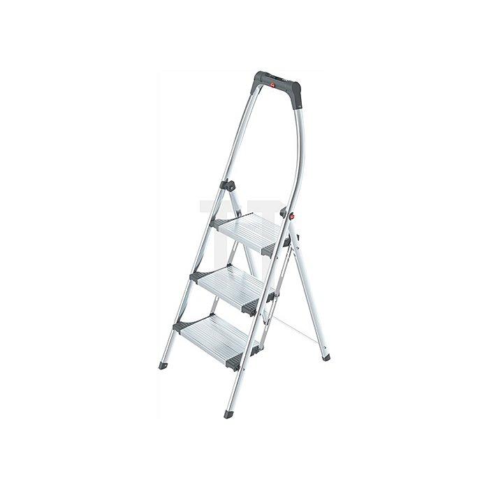 Klapptritt 3 Stufen Arbeitshöhe ca.2500mm Aluminum/Stahlblech Trgf.150kg