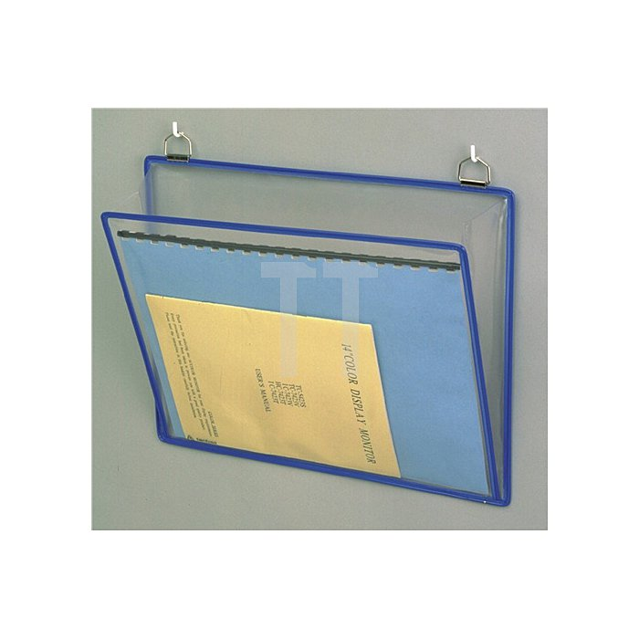 Klarsichthängetasche B.340xH.255mm rot/gelb/grün/blau/sw m.2Metallösen