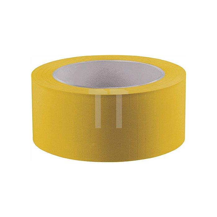 Klebeband Länge 33m Breite 50mm gelb PVC-Folie quergerillt