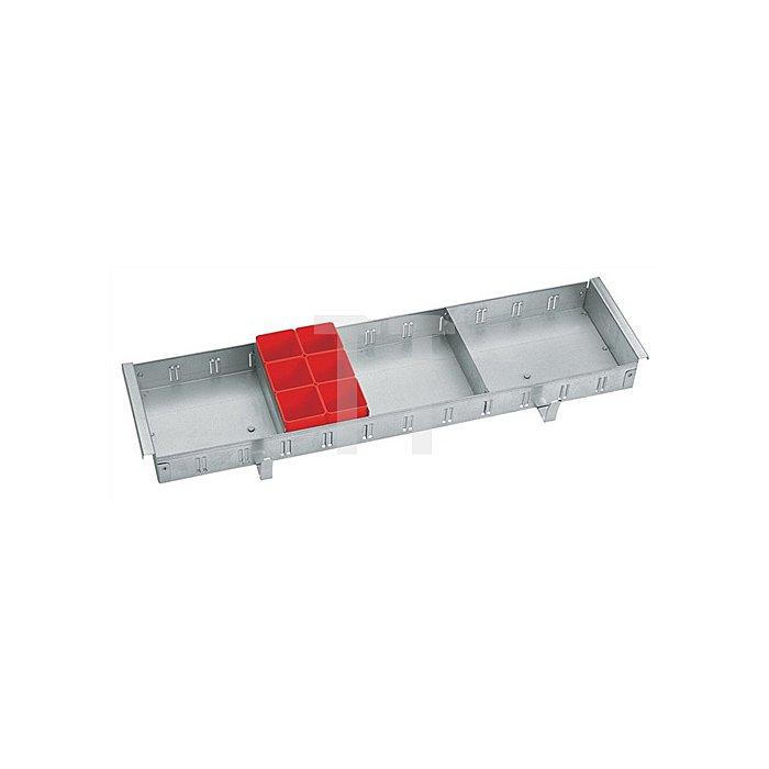 Kleinteileeinsatz f.Werkzeugkoffer Jumbo H.230xB.640xT.230mm 1440-64