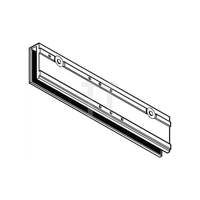 Klemmplatte für TS 5000 silber für Ganzglastüren