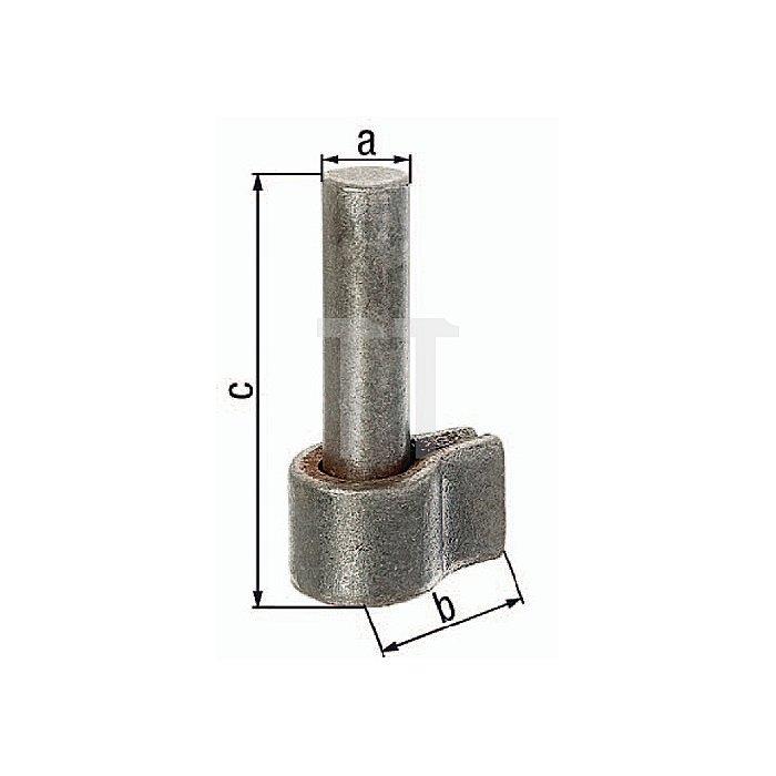 Kloben Ø20x50x95mm Stahl roh z. Anschweissen GAH