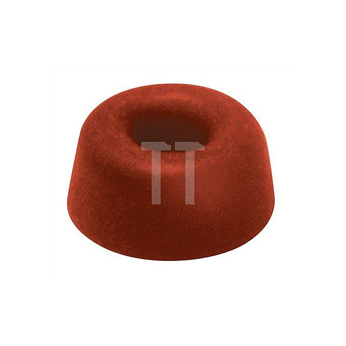 Klosettsitzpuffer Gummi Höhe 21mm Durchmesser 21mm rot Gummi