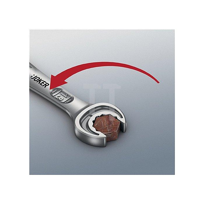 Knarrenringmaulschlüssel SW 13mm m.Haltefunktion/Anschlag f.Mutter feinverzahnt