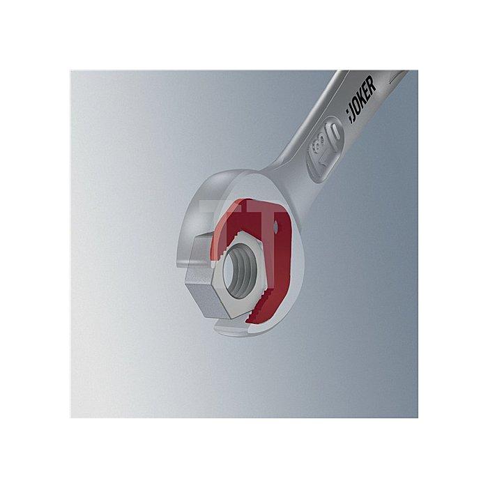 Knarrenringmaulschlüssel SW 17mm m. Haltefunktion/Anschlag f Mutter feinverzahnt