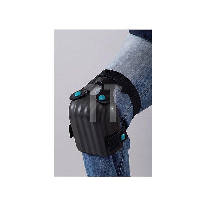 Knieschoner Kastenform schwarz EN14404 2Riemen geschäumt 1Paar/VE