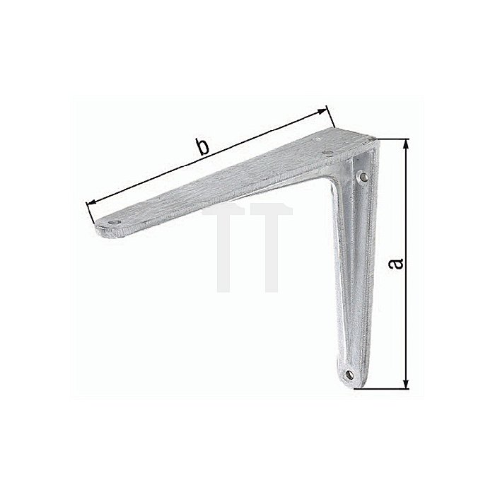 Konsole 200x250mm Aluminiumguss a. T-Profil GAH