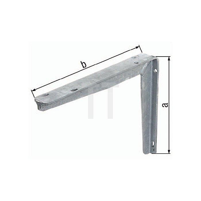 Konsole 200x250mm Stahl roh feuerZN a. T-Profil GAH
