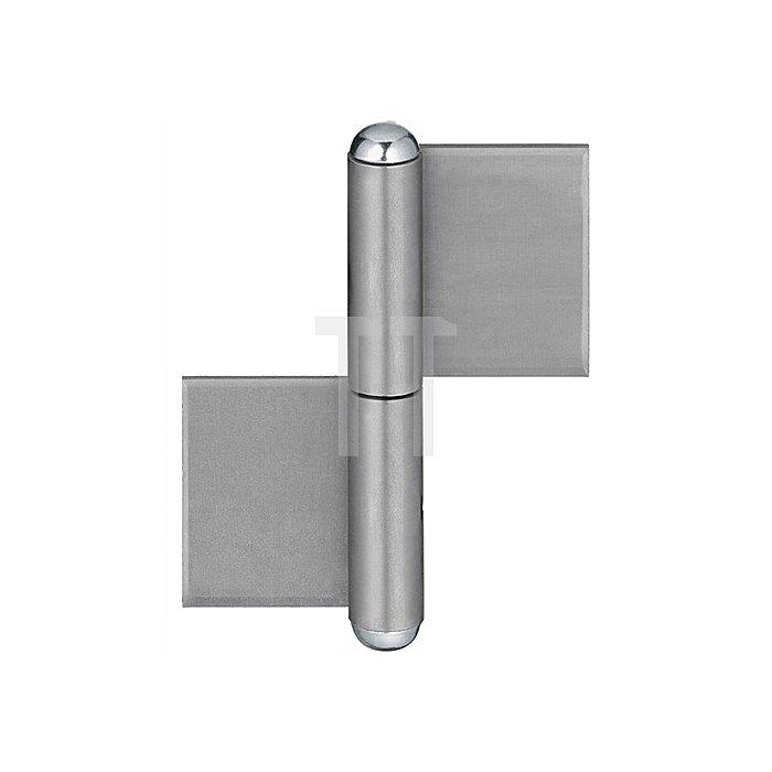 Konstruktionsband KO 4 L.80mm Lappenbreite 30mm Stift-D.9mm S.3mm Stahl blank