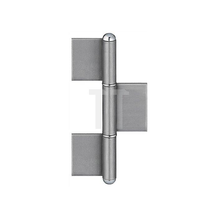 Konstruktionsband KO 8 L.240mm Lappen-B.50mm Stift-D.16mm S.5mm Stahl blank