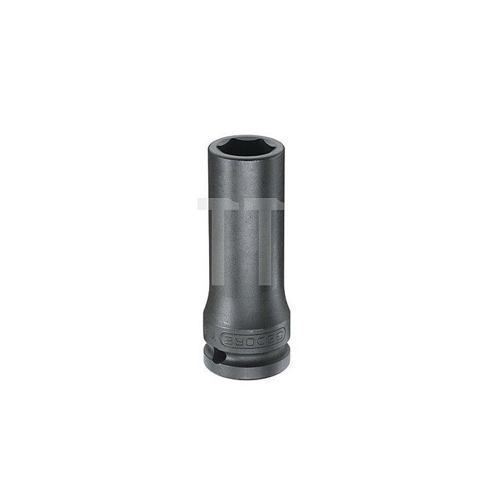Kraftschraubereinsatz 1/2Zoll SW 19mm 6KT lang brün. Sonderstahl