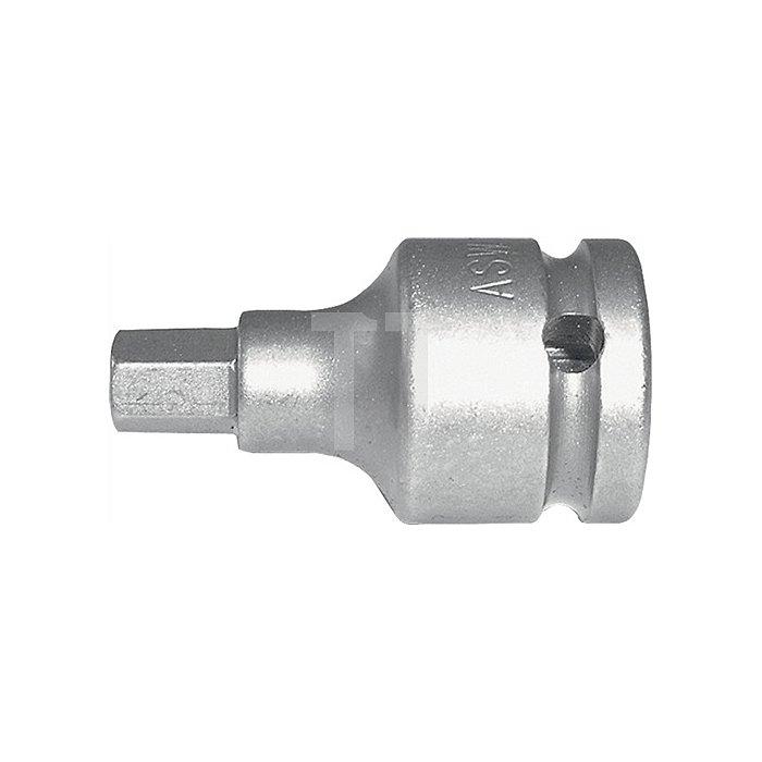 Kraftschraubereinsatz DIN3121 725 SW17mm 1/2Zoll 4KT Gesamt-L.55mm FormG12,5 ASW