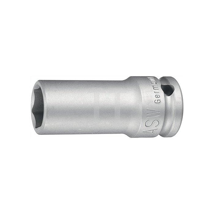 Kraftschraubersteckschlüsseleinsatz DIN3121 SW 33mm 3/4Zoll 4KT Ges.-L.95mm H20