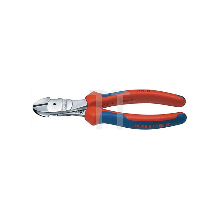 Kraftseitenschneider DIN ISO 5749 L.160mm m.Facette Chrom 2K-Hüllen Knipex
