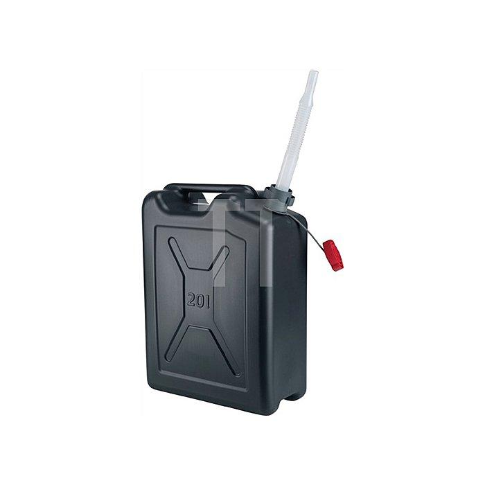 Kraftstoffkanister 20L. schwarz Polyethylen BAM/RKK,,UN