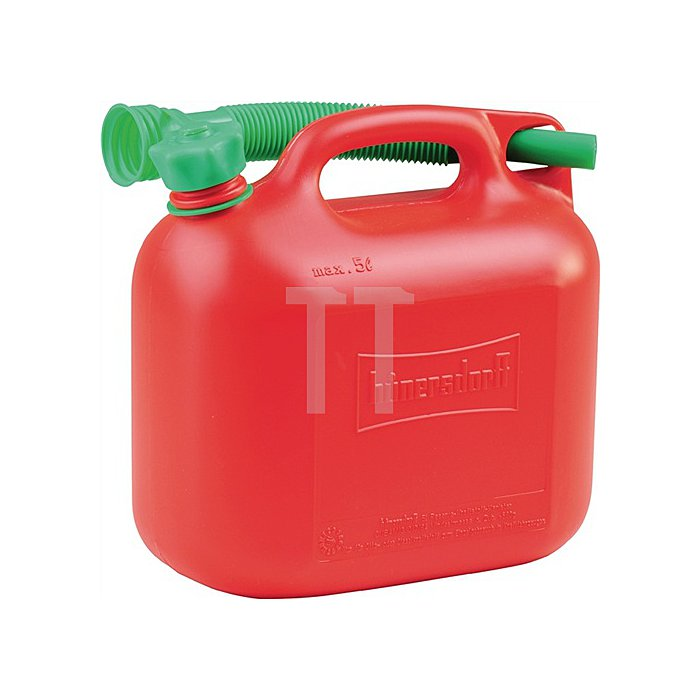 Kraftstoffkanister B147xH247mm Inhalt 5l Länge 265mm rot
